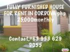 2 bedroom House and Lot for rent in Cebu City